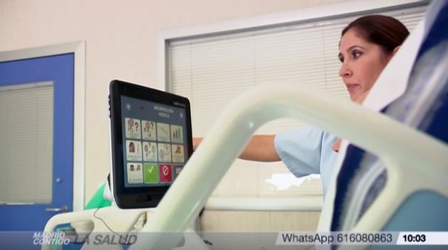El dispositivo de salud Tobii Dynavox en el programa 'Madrid contigo' de Telemadrid
