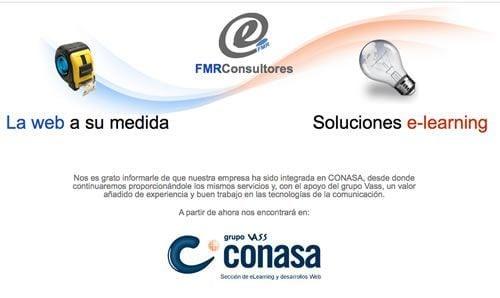 FMR Consultores SE INTEGRA EN CONASA. La empresa, dedicada a la consultoría y producción de proyectos de e-learning y desarrollos Web se suma a nuestro equipo para ofrecer nuevos servicios